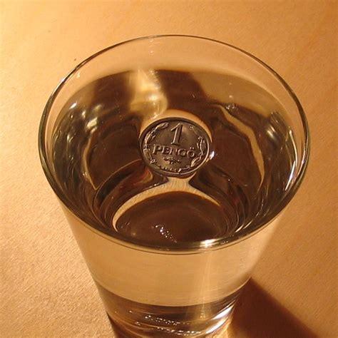 Mit Wasser ist ein randvoll mit wasser gef 252 lltes glas wirklich voll
