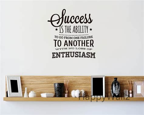 success motivational quote wall sticker enthusiasm quote wall decal diy decorative inspirational
