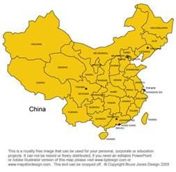 Printable China Country Map