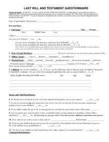 Free Printable Last Will and Testament Forms