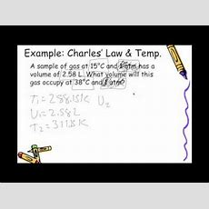 Boyle's And Charles' Law Youtube