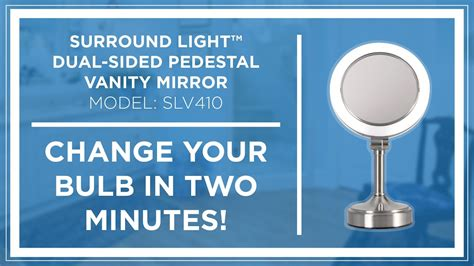 how to zadro surround light dual sided pedestal vanity mirror bulb replacement youtube