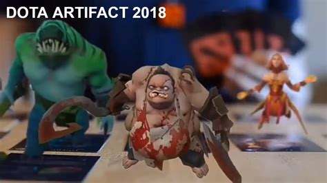 artifact dota card 2018 gameplay youtube