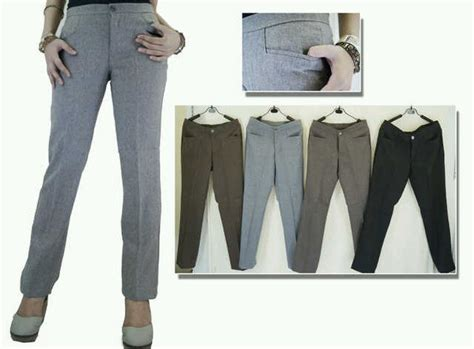 Celana Large Size Wh0106 jual celana kerja kantor wanita jumbo size 5l di lapak