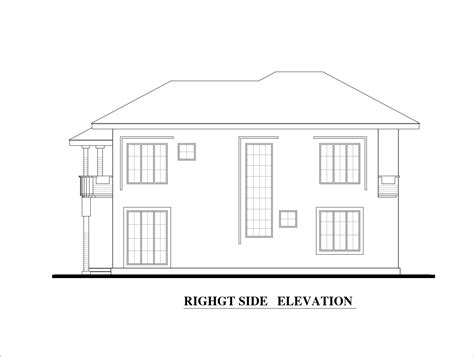 bed room double story house plan
