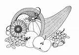 Coloring Cornucopia Adult Pages Plentiful Printable Colouring Favecrafts Thanksgiving Books Drawing Pdf sketch template