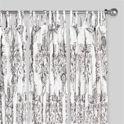 white octavia sheer crinkle cotton voile curtains set of 2