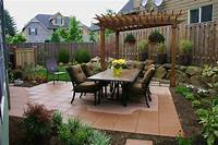 excellent patio and garden design ideas Small Backyard Patio Designs With Fireplace On A Budget ...