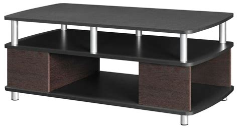 Contemporary Cherry Black Coffee Table Living Room