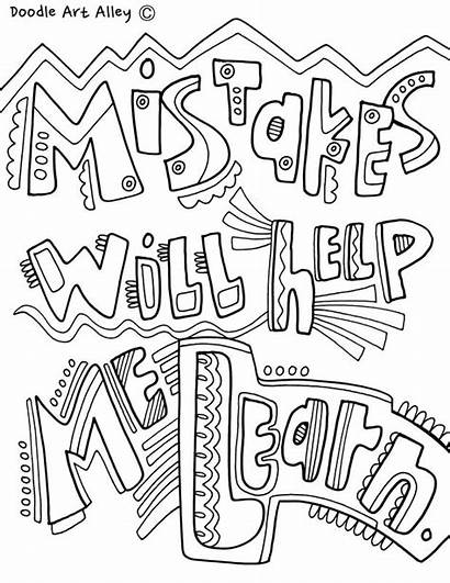 Mindset Growth Coloring Pages Mistakes Classroom Help