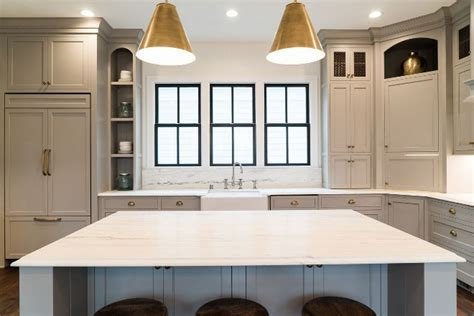 Transitional Family Home with Grey Kitchen   Home Bunch