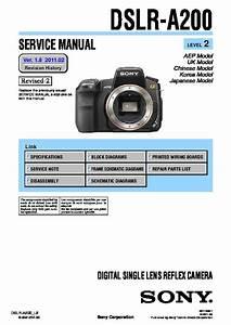 Sony Dslr-a200h Service Manual