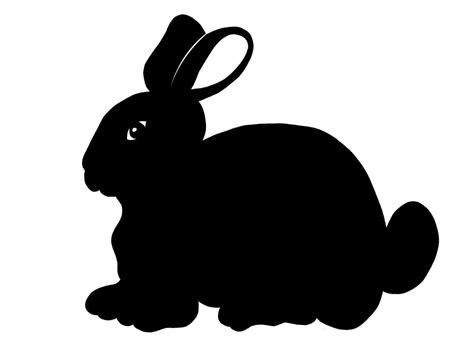 cute bunny clipart silhouette clipground