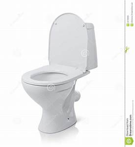 Open Toilet Bowl. File Contains A Path To Isolation. Stock ...