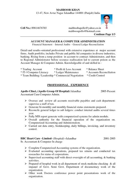 Indian Resume Format Pdf - Best Resume Examples