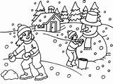 Coloring Winter sketch template