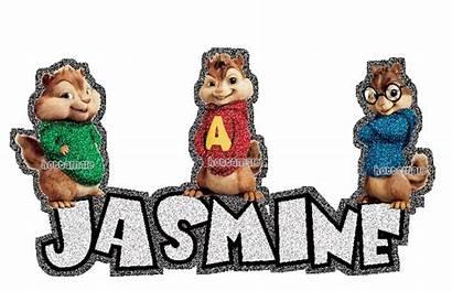 Glitter Jasmine Graphics Names Prenoms Chipmunks Copy