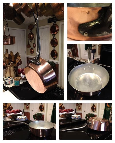 french copper pan pot reduction splayed windsor sauce vintage metaux ouvres ebay safest