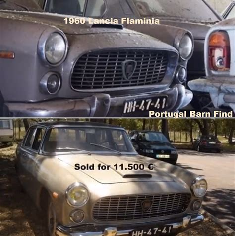 Portugal Car Barn Find by Part Of The Portugal Barn Find 1960 Lancia Flamina