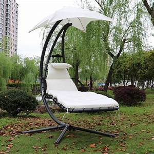 Fauteuil Suspendu Jardin : fauteuil de jardin confortable suspendu beige ~ Dode.kayakingforconservation.com Idées de Décoration
