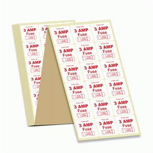 Buy 10 Amp Fuse Rating Labels