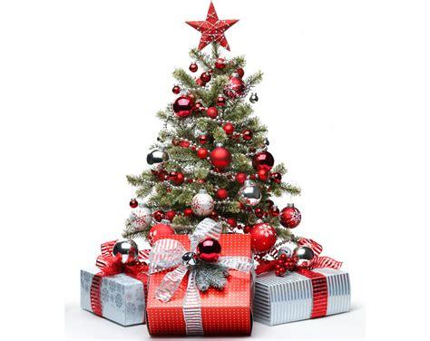 fotos von neujahr christbaum geschenke kugeln feiertage