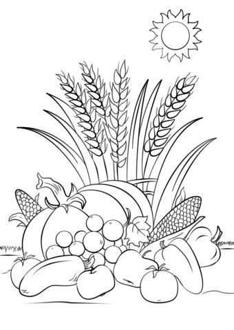 fall harvest coloring page  printable coloring pages