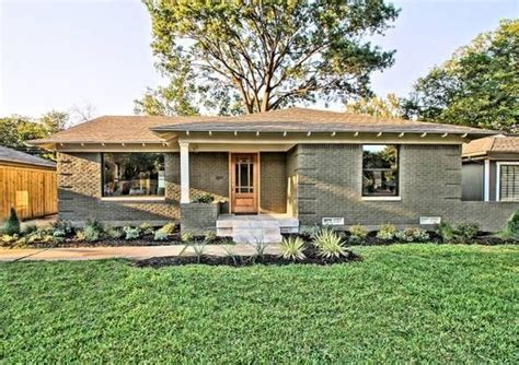 maximize north texas small vintage housing stock ranch house exterior remodel