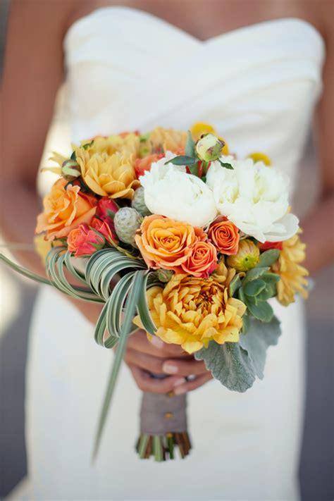 yellow and orange wedding decorations modern wedding centerpieces