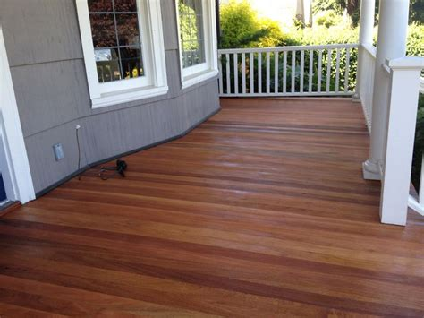 restaining deck same color mesmers hardwood stain mahogany porch floor