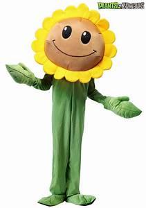 Plants Vs  Zombies Sunflower Costume For Kids