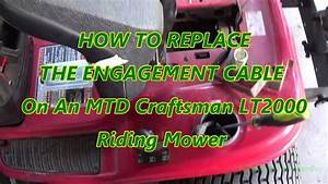 How To Replace The Engagement Cable On A Mtd Craftsman