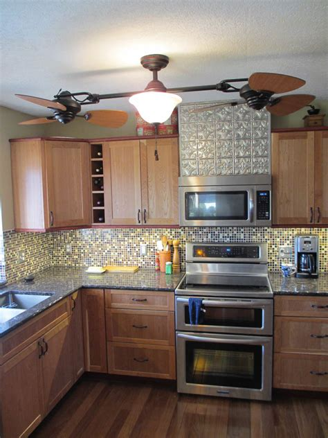 faux metal ceiling tiles a kitchen remodel 7 tile backsplash and faux textured tin