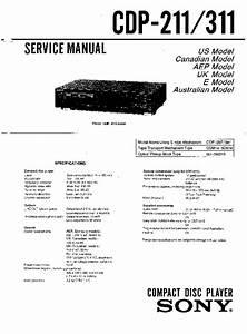 Sony Cdp-211  Cdp-311 Service Manual