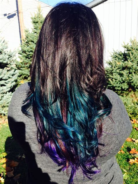 Peacock Ombre Hair