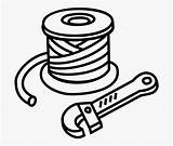 Wire Clipart Spools Roll Clipground Cliparts sketch template