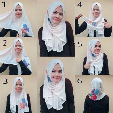 tutorial hijab segi empat terbaru  simpel modern