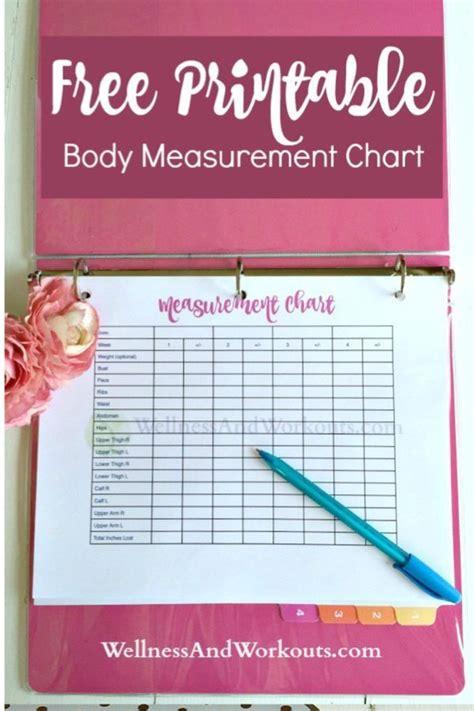 blank printable body measurement chart