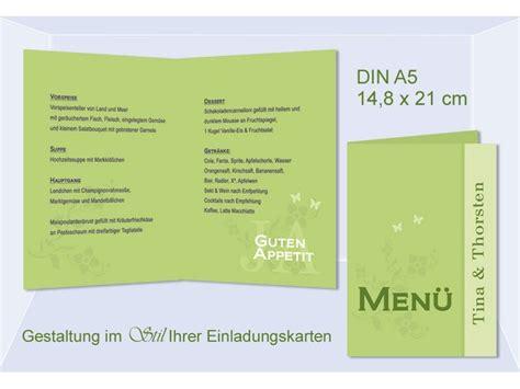 menuekarte getraenkekarte hochzeitsmenue klappkarte