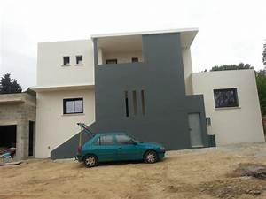 maconnerie gros oeuvres constuction villa renovation With photo maison toit plat 7 maison toit plat et casquette nimes gard 30