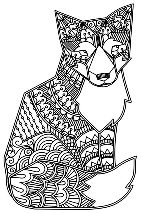 Fox Coloring Pages Fox coloring page Adult coloring