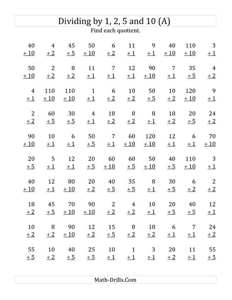 division and multiplication worksheets for 6th grade