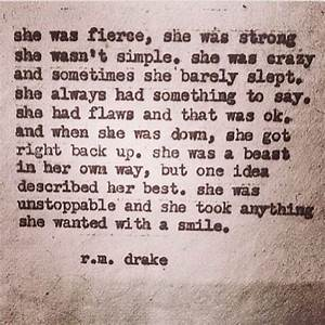 she was fierce. – smile and breathe