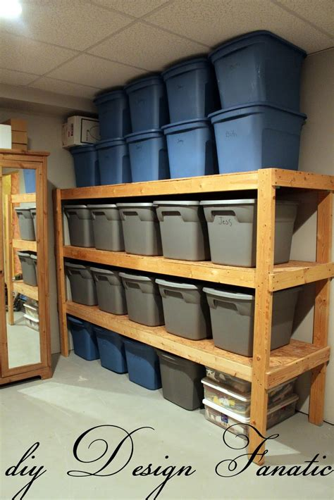 diy basement organization an easy way to build inexpensive basement storage shelves page 2 of 2