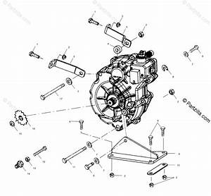 Polaris Atv 2001 Oem Parts Diagram For Gearcase Mounting