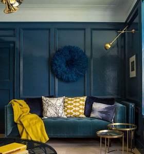 Deco Bleu Petrole : adoptez le jaune moutarde dans votre int rieur id es ~ Farleysfitness.com Idées de Décoration