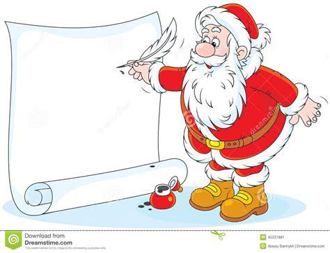 santa claus writing stock vector image