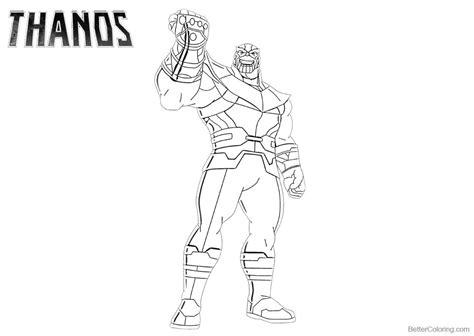 Kleurplaat Fortnite Thanos by Fortnite Thanos Coloring