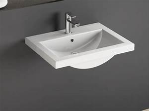 Einbau Abzugshaube 60 Cm : design keramik einbau waschtisch waschbecken 60cm weiss ~ Whattoseeinmadrid.com Haus und Dekorationen