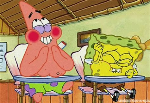 laughing, patrick, spongebob, spongebob squarepants   animated gif #236895 on Favim.com